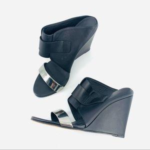 VINCE Karima 2 Wedge Sandal Elegant Leather Heels